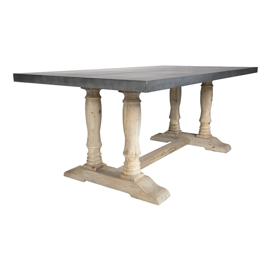 Moe's Home Collection Orleans Zinc/Reclaimed Pine Rectangular Dining Table