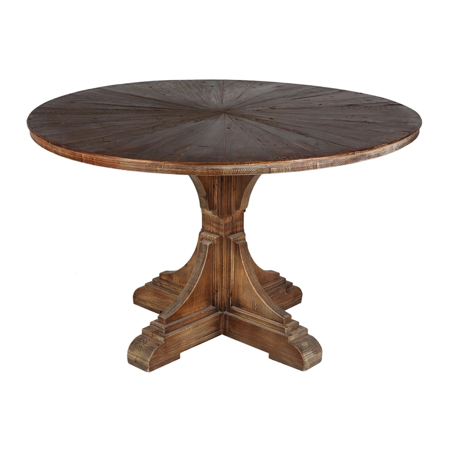 Lovely Moeu0027s Home Collection Calistoga Rustic Reclaimed Pine Round Dining Table