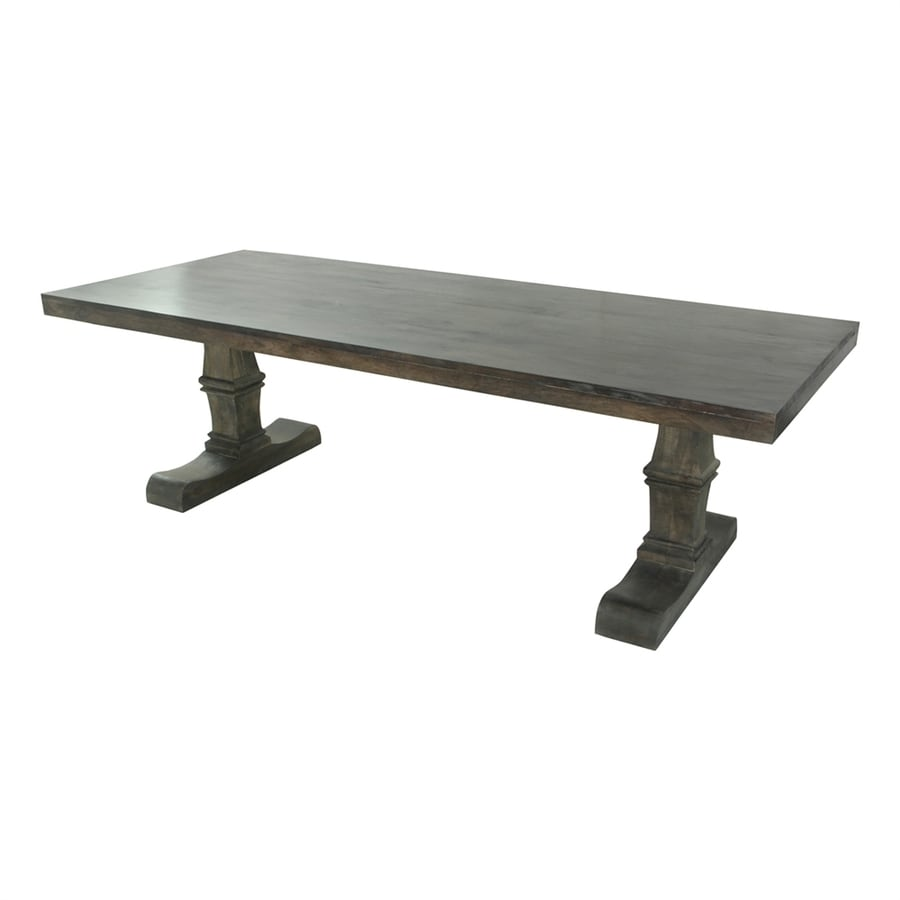 Moe's Home Collection Nigel Grey Stained Mango Rectangular Dining Table