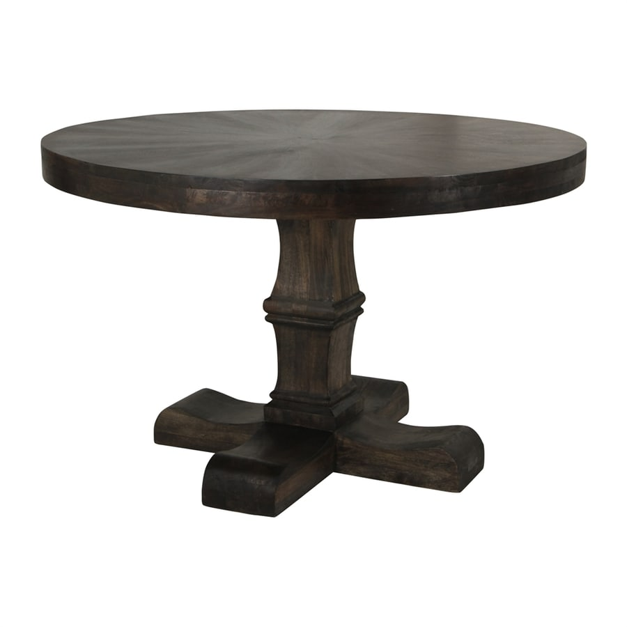 Moe's Home Collection Nigel Grey Stained Mango Round Dining Table