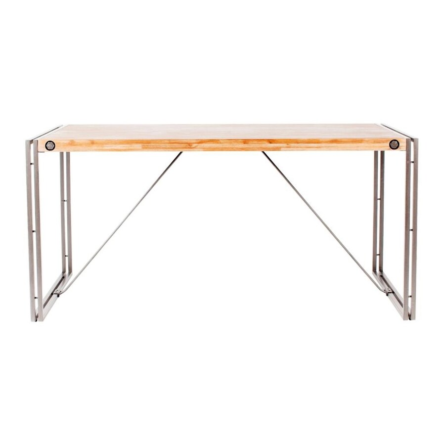 Shop moe 39 s home collection brooklyn wood dining table at for Table table restaurants locations