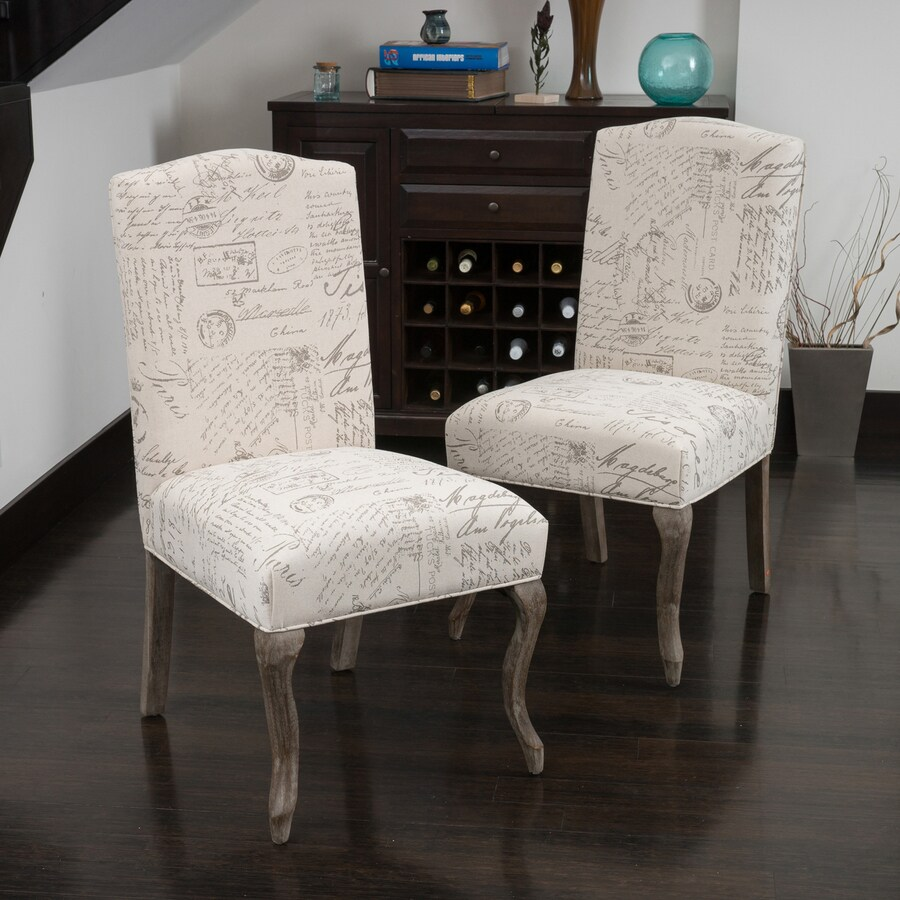 Best Selling Home Decor Set of 2 Crown French Script Side Chair