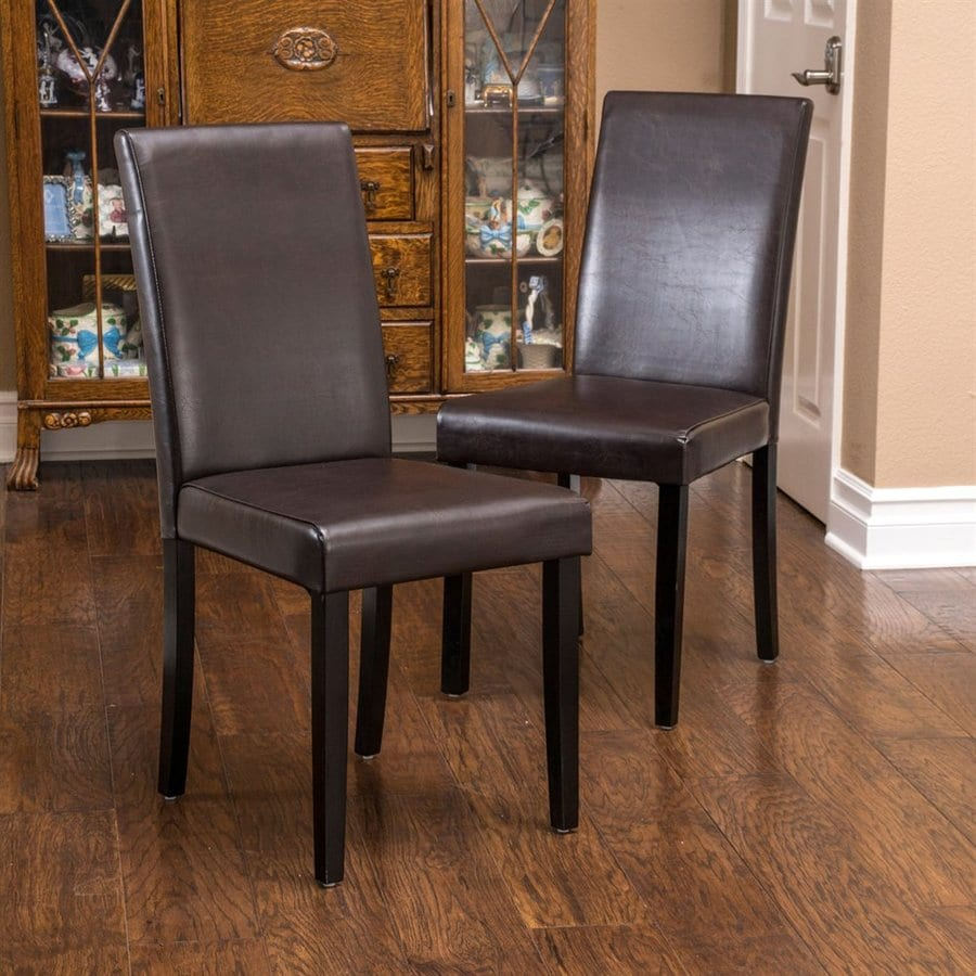 Best selling home decor set of 2 ryan brown side chairs