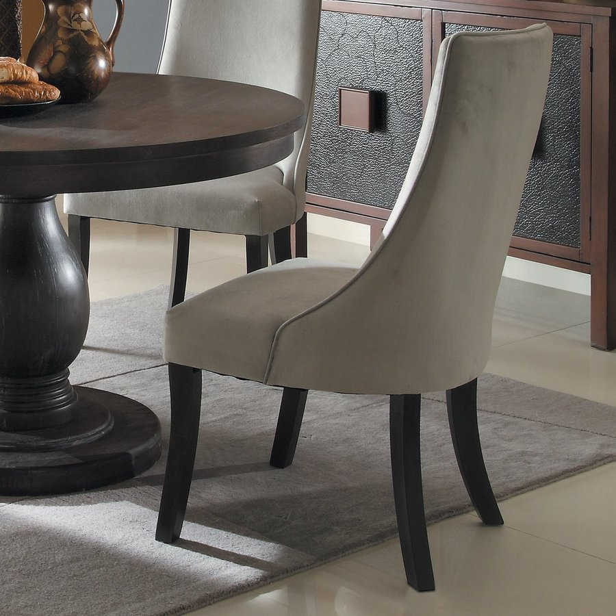 Homelegance Set of 2 Dandelion Distressed Taupe Side Chairs