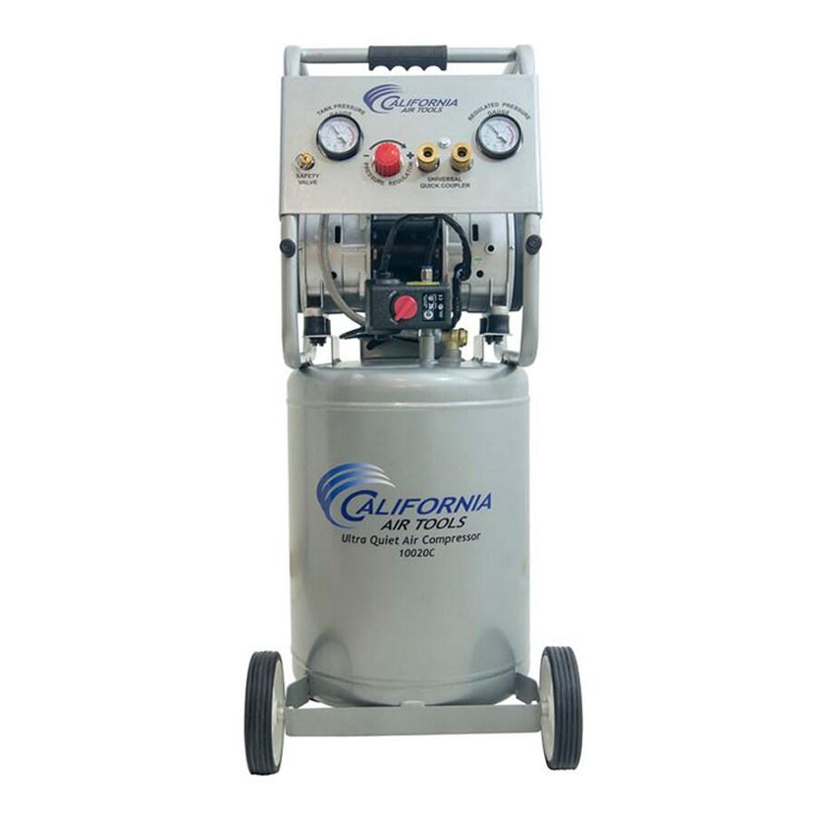 California Air Tools Ultra Quiet 2-HP 10-Gallon 125-PSI 220-Volt Vertical Portable Electric Air Compressor