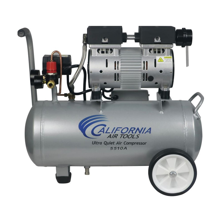 California Air Tools Ultra Quiet 1-HP 5.5-Gallon 120-PSI 110-Volt Hot Dog Portable Electric Air Compressor