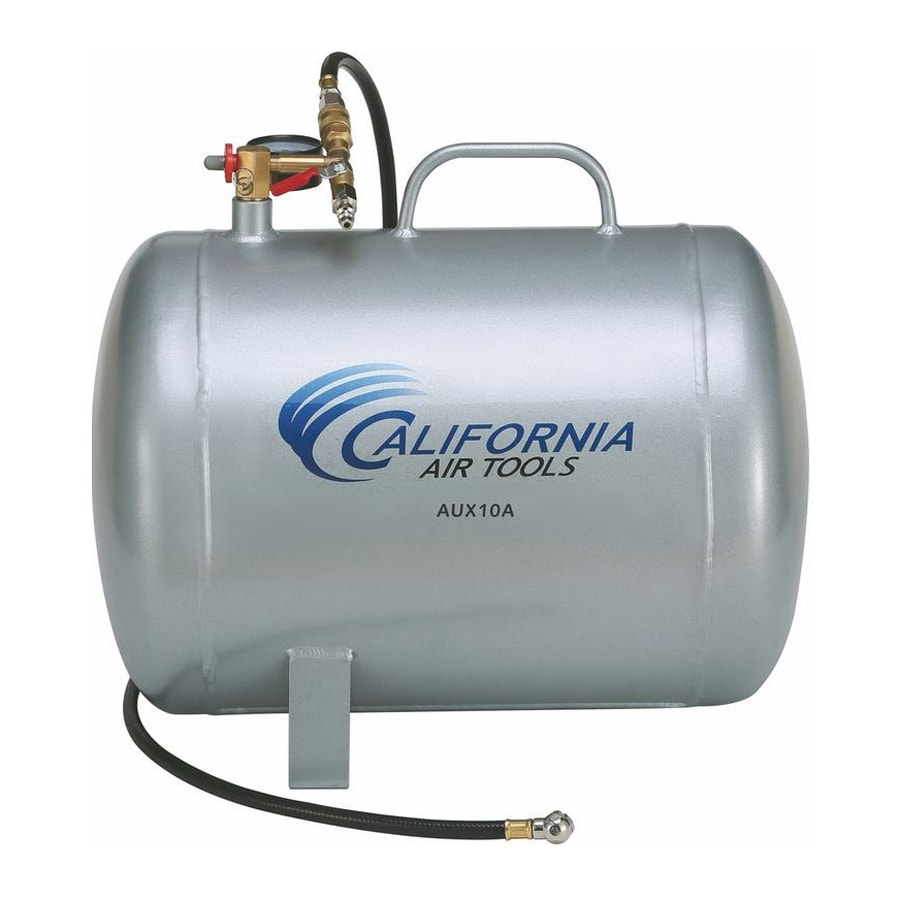 California Air Tools 10-Gallon 125-PSI Hot Dog Portable Air Compressor