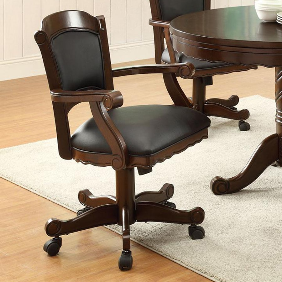 Coaster Fine Furniture Turk Brown Cherry Vinyl Gaming Chair