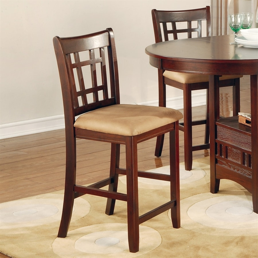 Coaster Fine Furniture Set of 2 Lavon Warm Brown 24-in Counter Stools