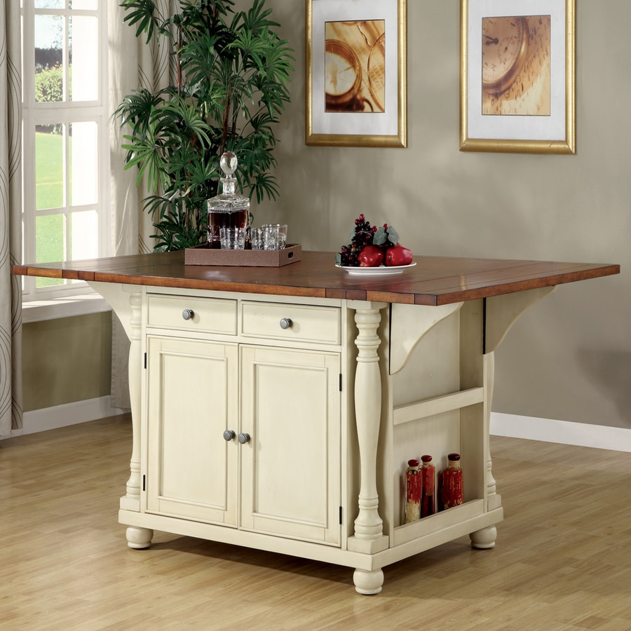 Coaster Fine Furniture White Craftsman Kitchen Island Shop Islands  Carts at Lowes com