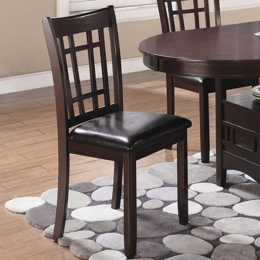 Coaster Fine Furniture Set of 2 Linwood Espresso Side Chairs