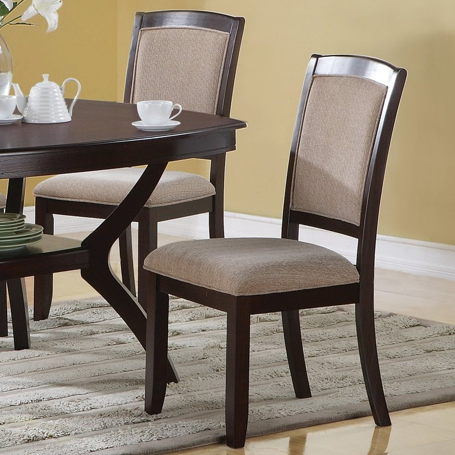 Coaster Fine Furniture Set of 2 Cappuccino Side Chairs