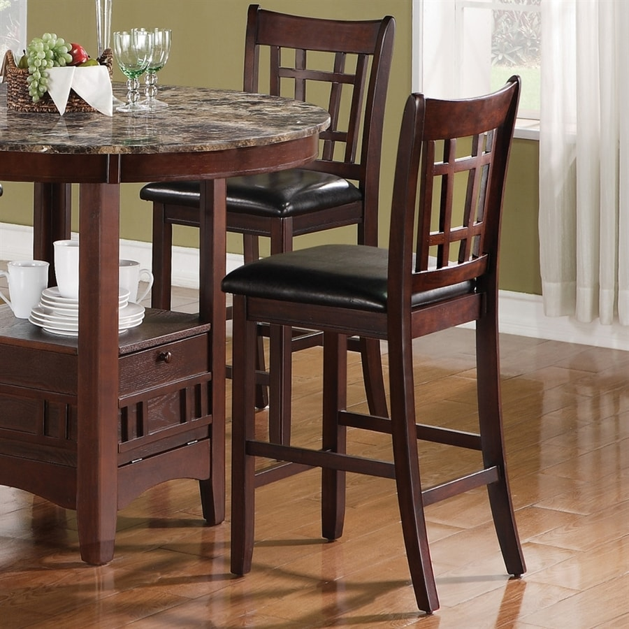 Coaster Fine Furniture Set of 2 Lavon Cappuccino 24-in Counter Stools