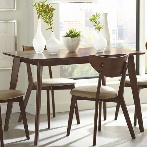 Elegant Furniture: Coaster Fine Furniture Kersey Wood Dining Table At Lowes.com