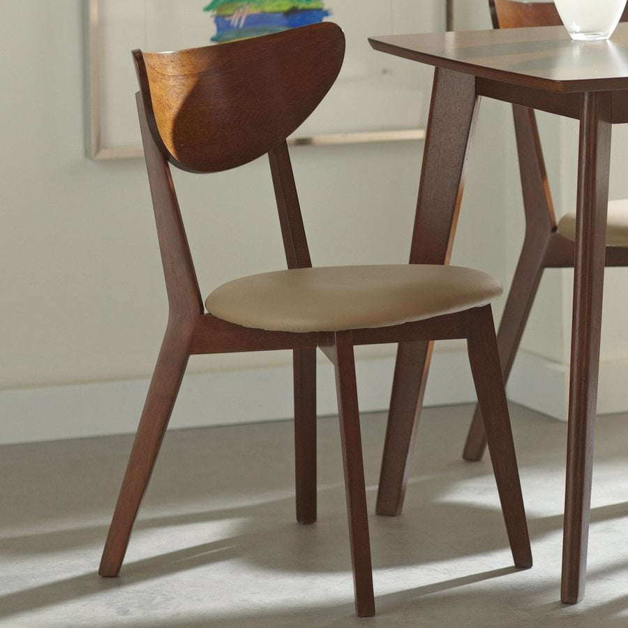 Coaster Fine Furniture Setf of 2 Kersey Chestnut Side Chairs