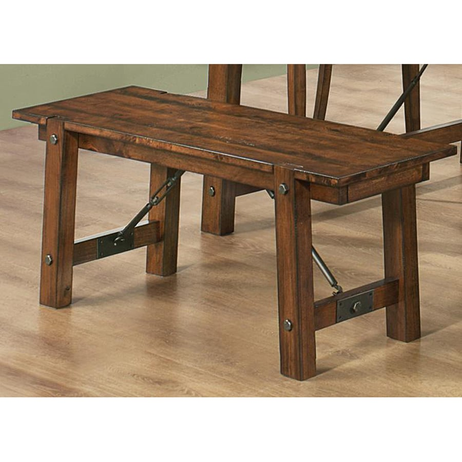 Coaster Fine Furniture Lawson Rustic Oak 48-in Dining Bench