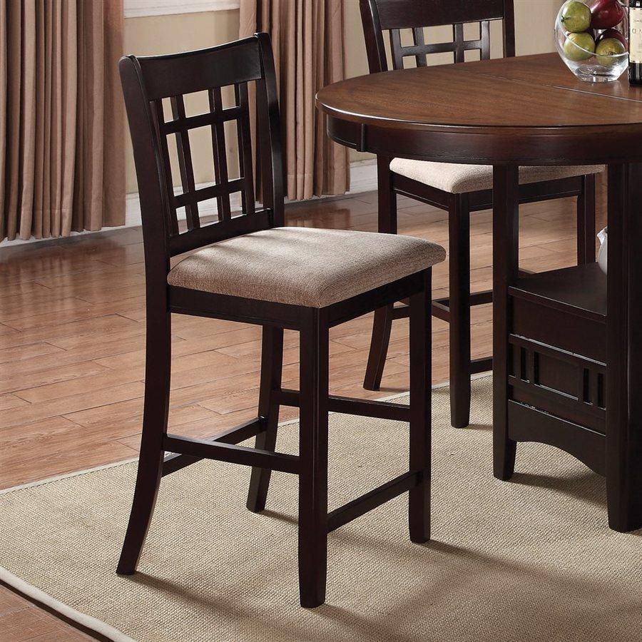 Coaster Fine Furniture Hudson Set of 2 Espresso Counter Stools