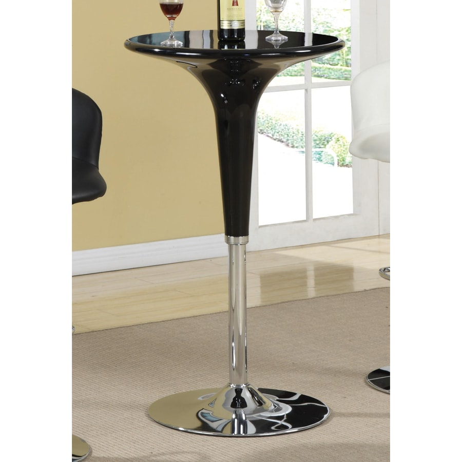Coaster Fine Furniture Black Round Extending Table