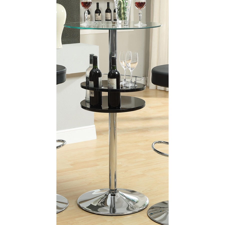 Shop Coaster Fine Furniture Glass Round Bar Table At