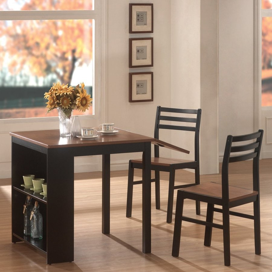 Coaster Fine Furniture Walnut/Black Dining Set with Dining Table