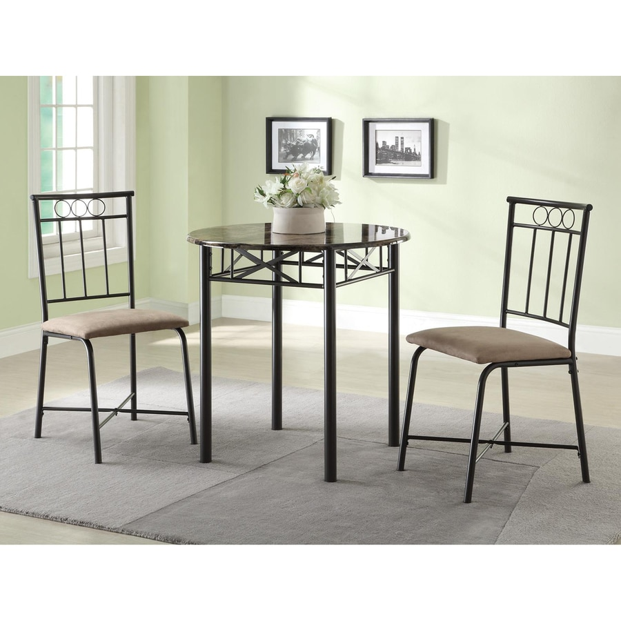 Coaster Fine Furniture Slater Black Dining Set with Round Dining Table