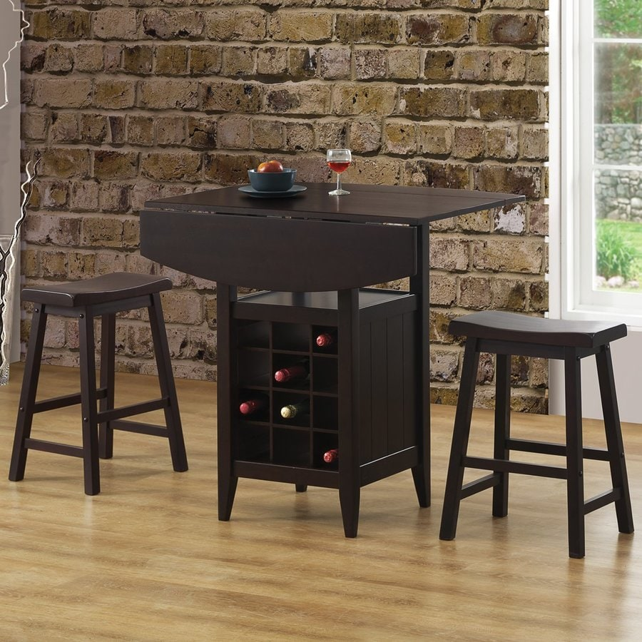 Coaster Fine Furniture Espresso Dining Set with Square Counter Table