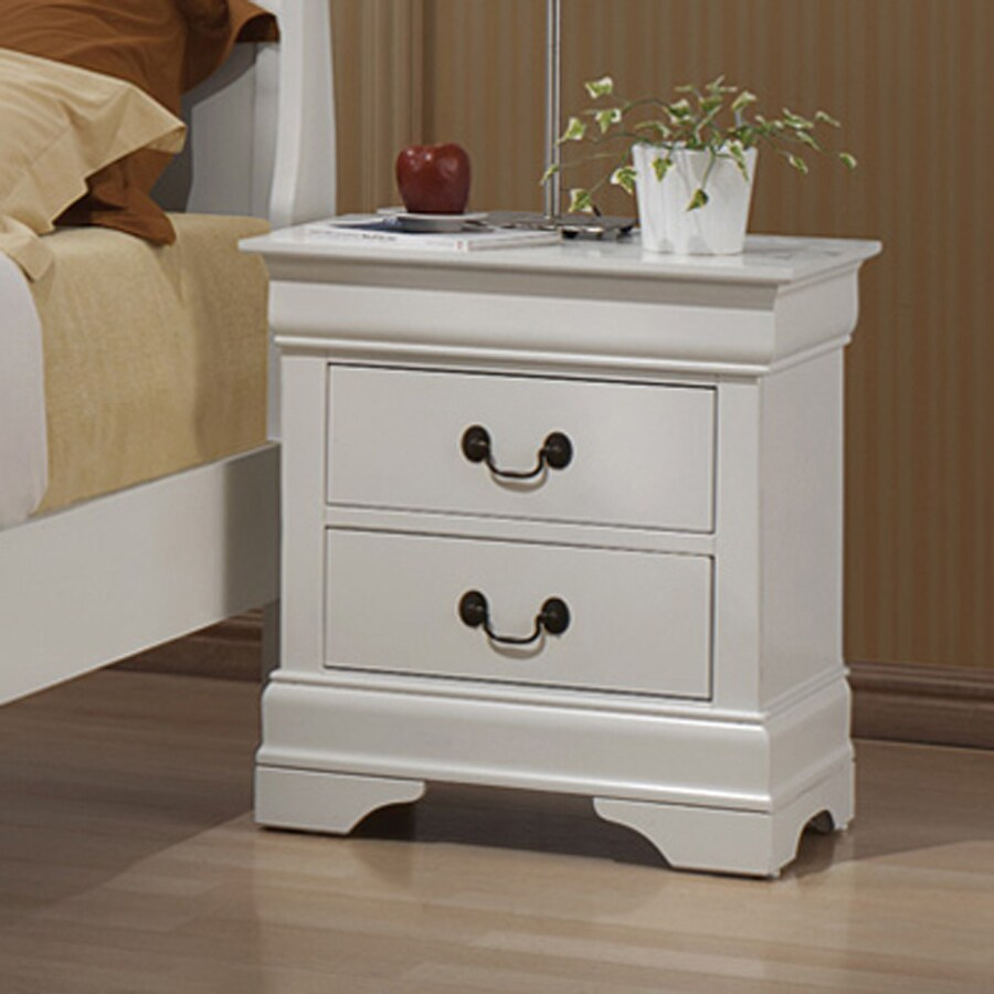 Coaster Fine Furniture Louis Philippe White Nightstand