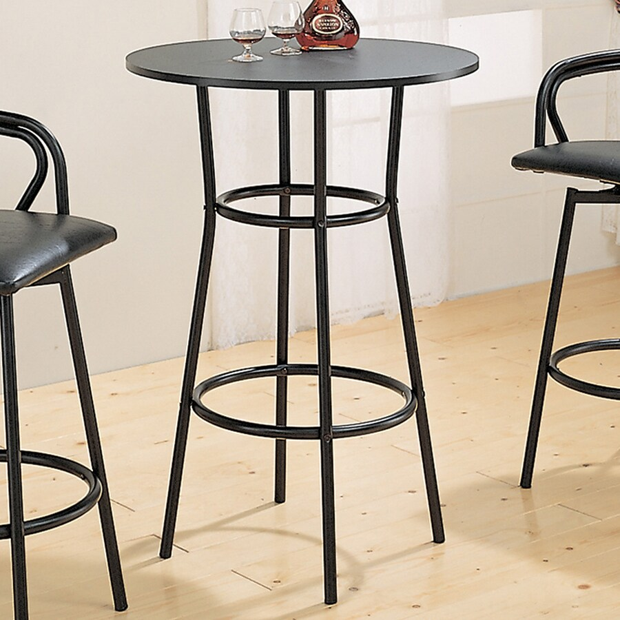 Shop Coaster Fine Furniture Black Round Bar Table At