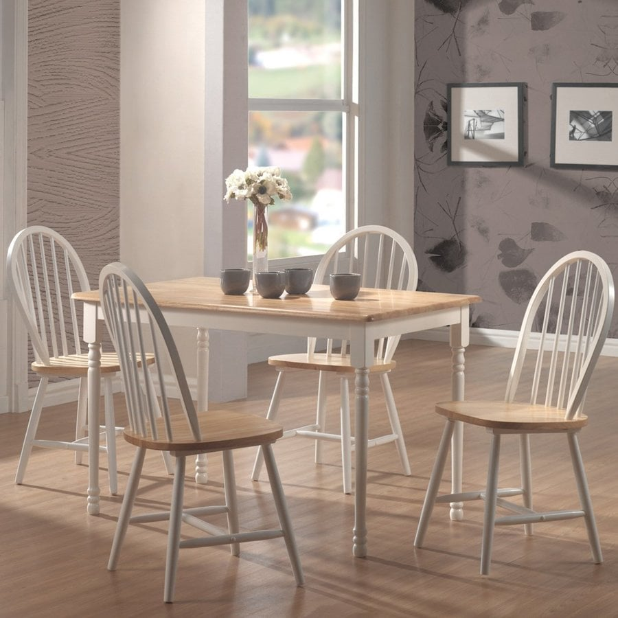 Coaster Fine Furniture Set of 4 Damen Natural/White Side Chairs