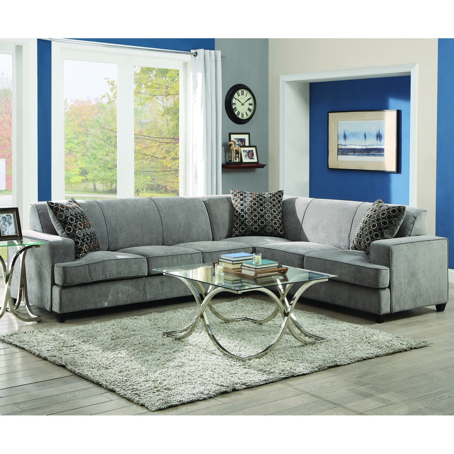 Shop Coaster Fine Furniture Tess Gray Sectional At