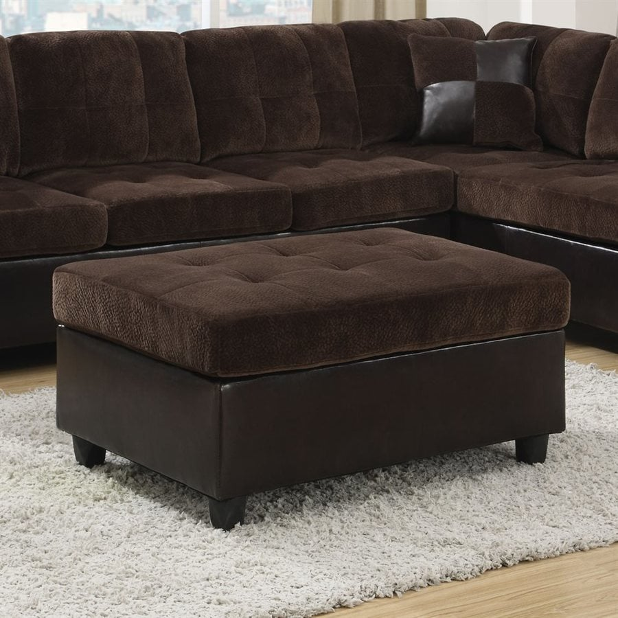 Coaster Fine Furniture Mallory Chocolate Velvet Rectangle Ottoman