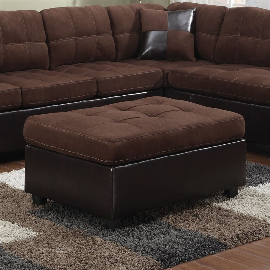 Coaster Fine Furniture Mallory Chocolate Microfiber Ottoman