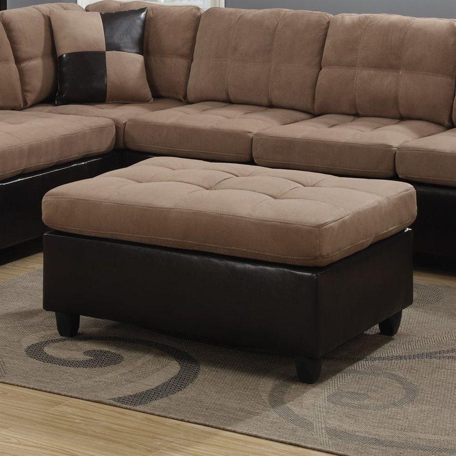 Coaster Fine Furniture Mallory Tan Microfiber Ottoman