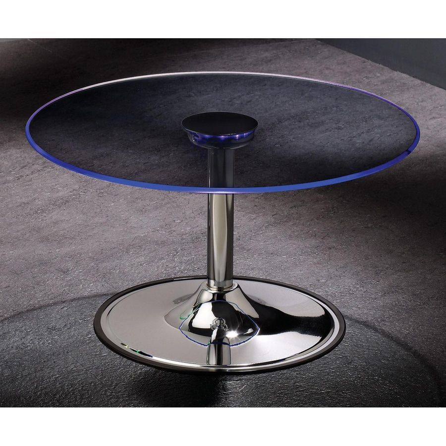Coaster Fine Furniture Chrome Round Coffee Table