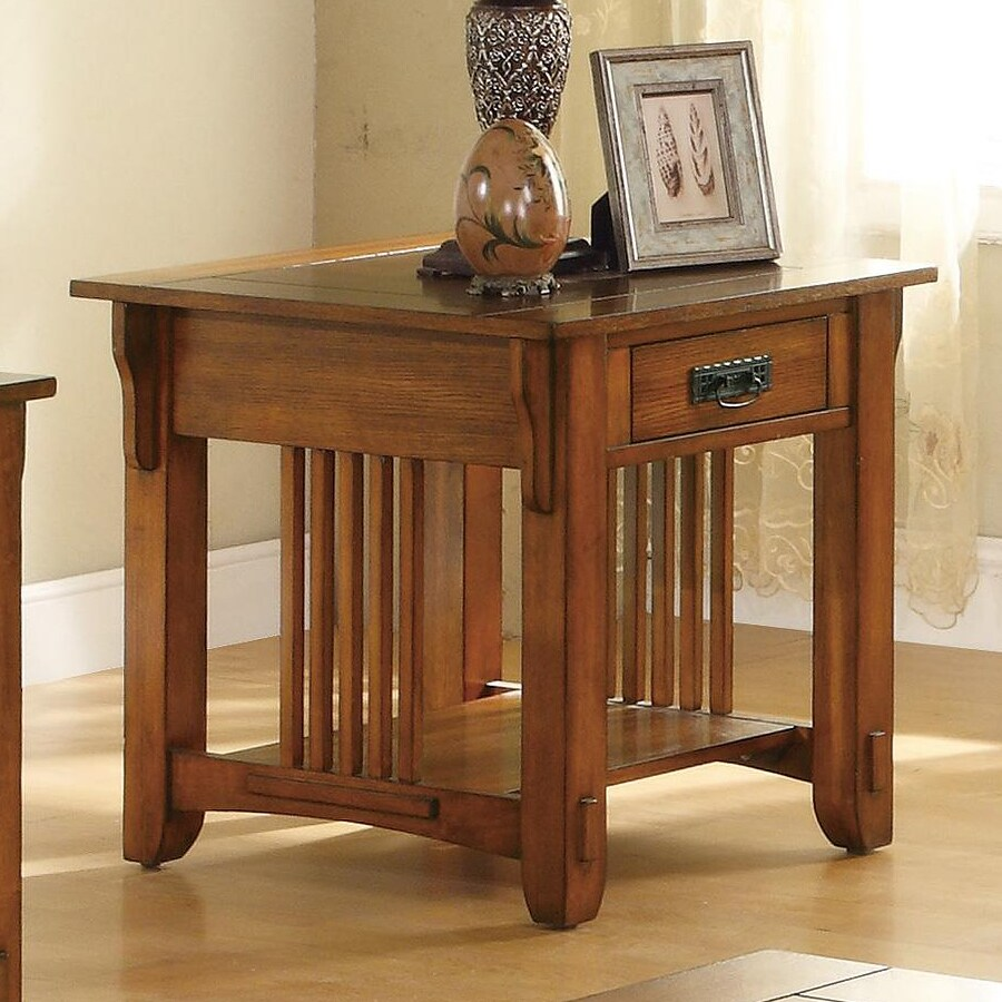 Coaster Fine Furniture Oak Poplar End Table