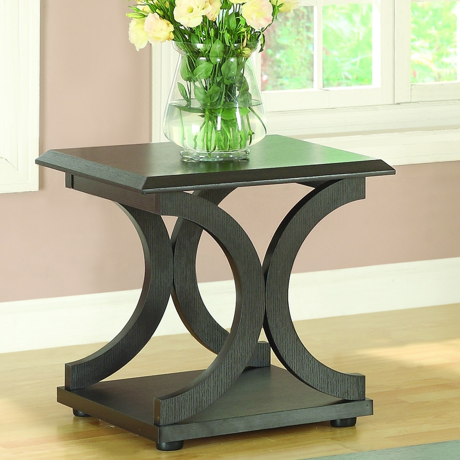 Coaster Fine Furniture Cappuccino Rectangular End Table