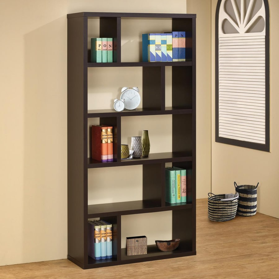 Coaster Fine Furniture Cappuccino 10-Shelf Bookcase