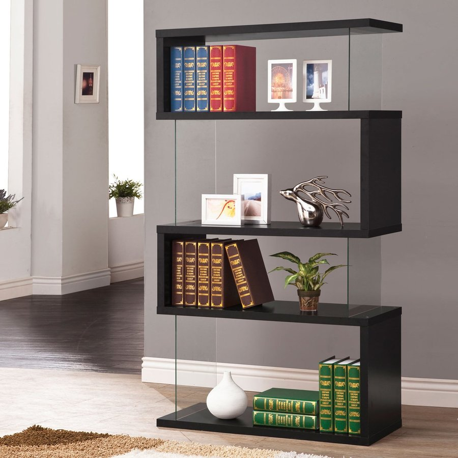 Coaster Fine Furniture Black 35.5-in W x 63-in H x 11.75-in D 4-Shelf Bookcase