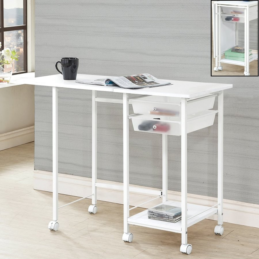 Coaster Fine Furniture White Fold-Out Desk
