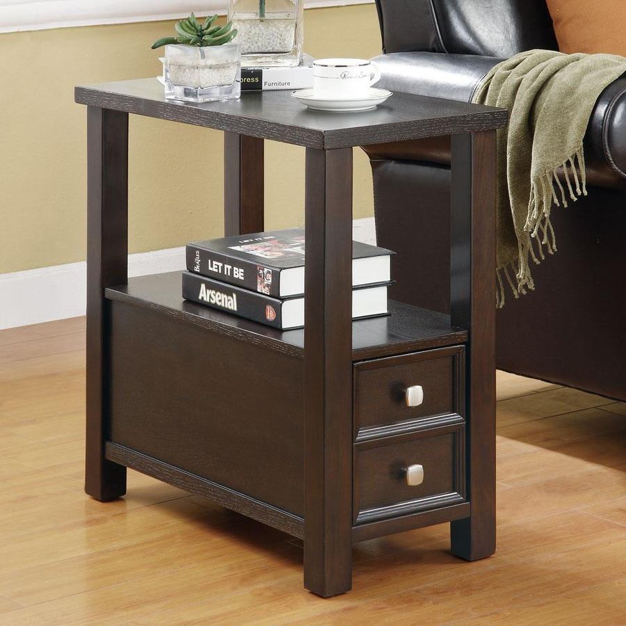 Coaster Fine Furniture Cappuccino Wood End Table At Lowes Com