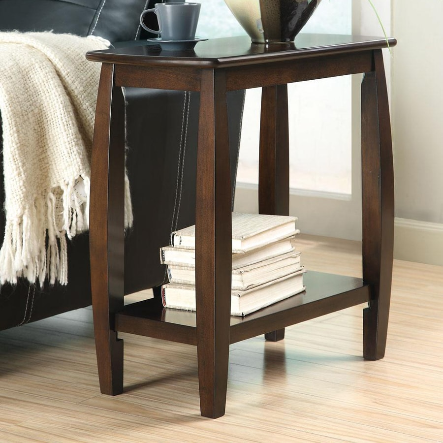 Coaster Fine Furniture Walnut Wood Casual End Table At