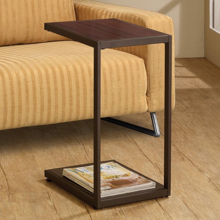 Coaster Fine Furniture Brown Rectangular End Table