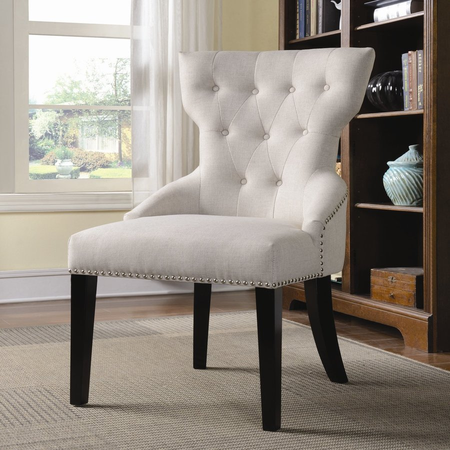 Coaster Fine Furniture Espresso Linen Accent Chair