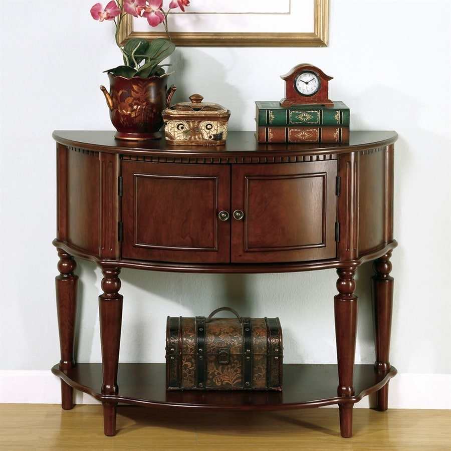 Coaster Fine Furniture Brown Half-Round Console Table