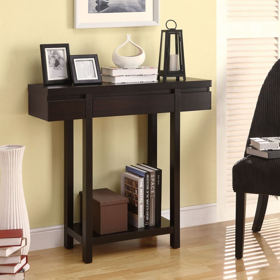 Coaster Fine Furniture Cappuccino Rectangular Console Table