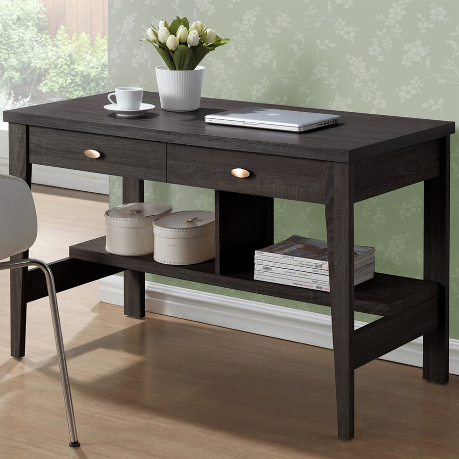CorLiving Folio Rich Espresso Writing Desk