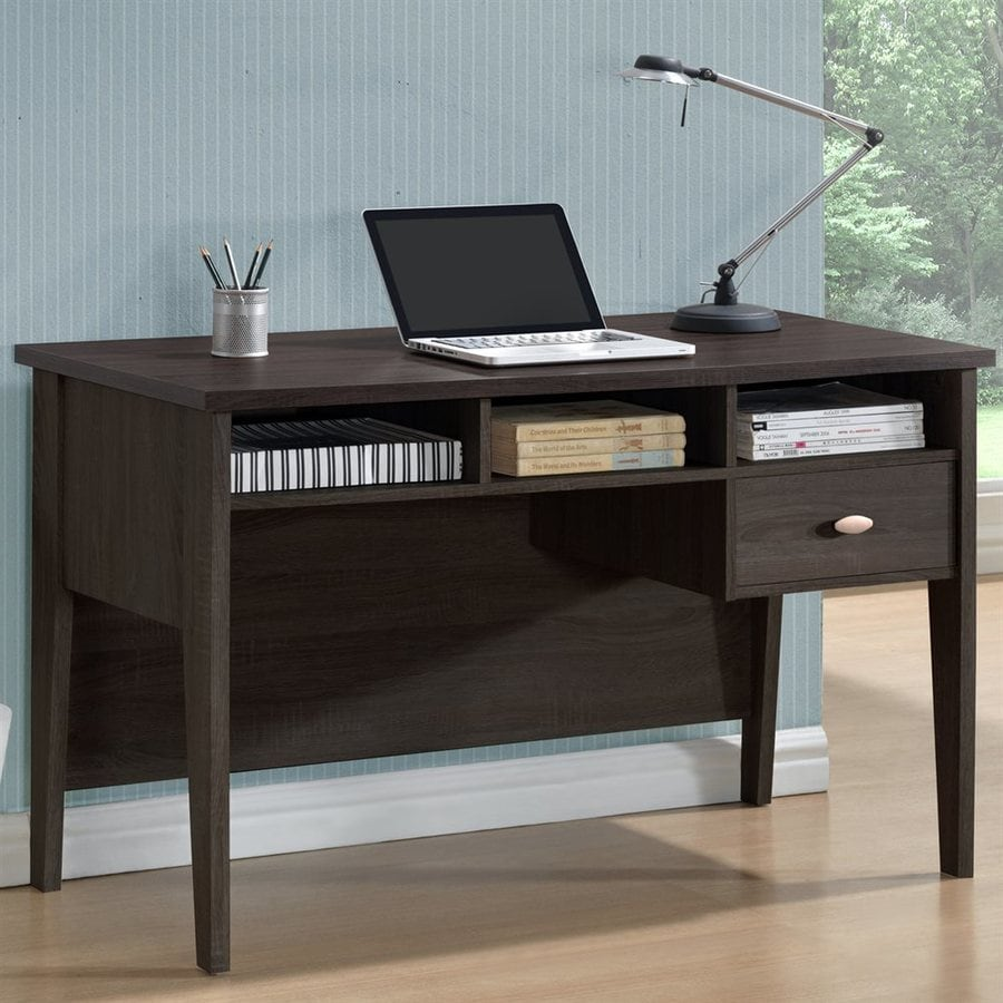 CorLiving Folio Rich Espresso Teacher Desk