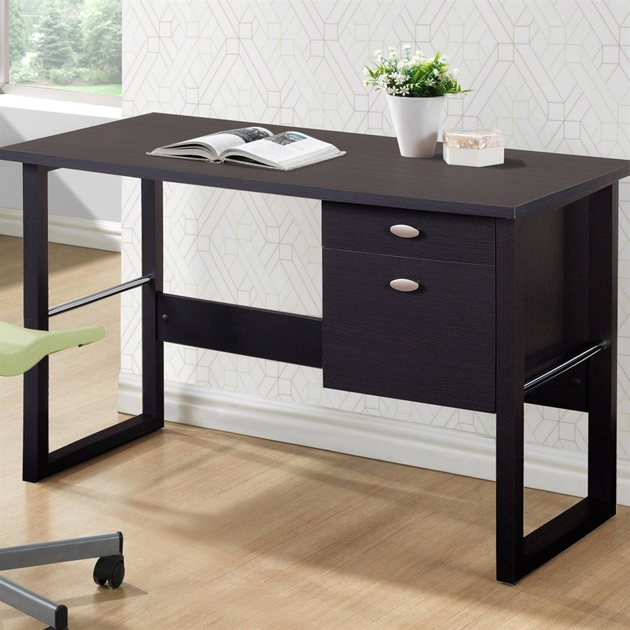 CorLiving Folio Rich Espresso Teacher Desk