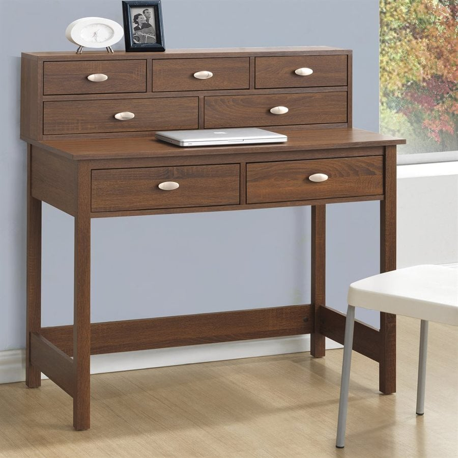 CorLiving Folio Warm Oak Secretarial Desk