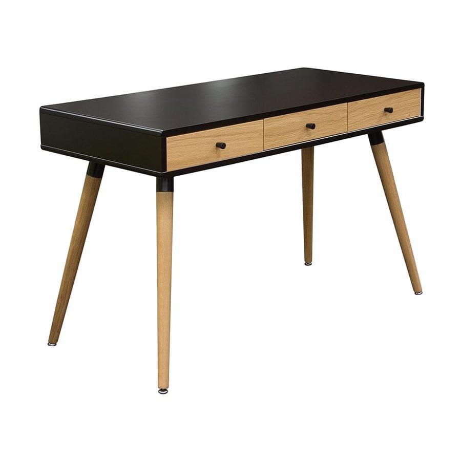 DIAMOND SOFA Sonic Black/Oak Writing Desk